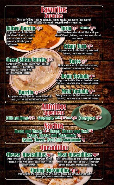 Online Menu of Taqueria Jalisco, Seminole, TX