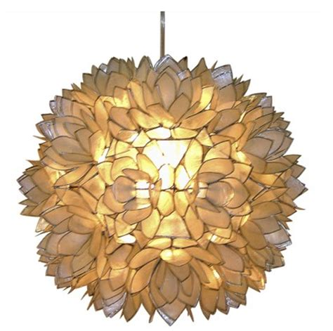 hanging light fixtures how to a diy hanging capiz shell pendant chandelier