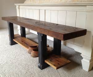Recycled Wood Bench by Reclaimed Wood Bench The Coastal Craftsman