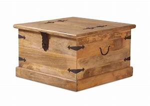 rustic solid mango wood trunk coffee table blanket box With thakat bar box trunk coffee table