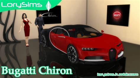 Bugatti Chiron at LorySims » Sims 4 Updates