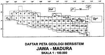 peta geologi regional lembar jawa timur