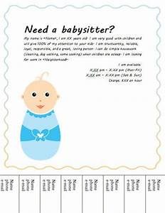cute baby tear off babysitting flyer random pinterest With babysitting poster template