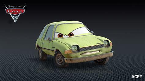 cars 2 autos acer grem drive into cars 2