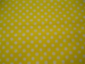 Yellow Polka Dot Shower Curtain