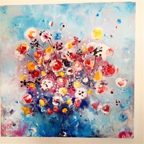 fleurs modernes en peinture