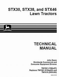 John Deere Stx38 Parts Manual