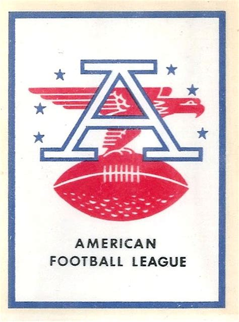 vintage  american football league team logo decals