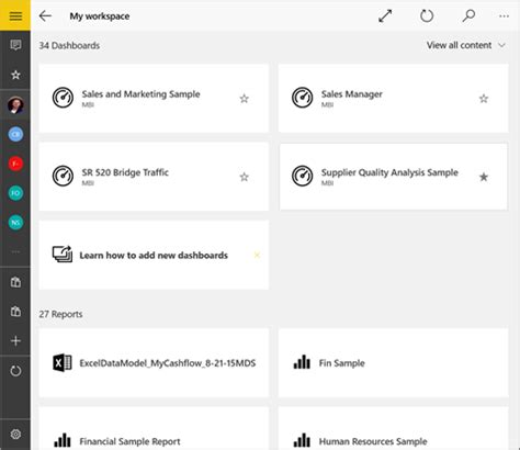view dashboards and reports in the power bi mobile apps power bi microsoft docs