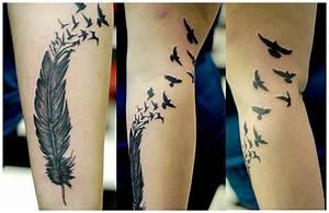 Tattoo Feder Unterarm : thread tattoomotiv ~ Frokenaadalensverden.com Haus und Dekorationen