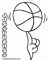 Coloring Sports Pages Basketball Printable Equipment Preschool Colouring Sport Spinning Boys Winter Balls Spin Ball Yescoloring Comments Game Smooth sketch template