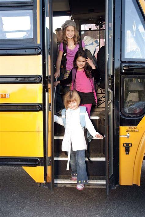 school buses  riding   drop  kids
