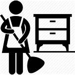 Icon Cleaning Cleaner Sweep Maid Housemaid Broom