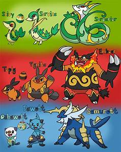 Unova Starter Pokemon Families By Tails19950 On Deviantart