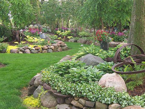 wooded garden 100 1666 landscape design landscaping gardens shade garden hostas perennials rock garden