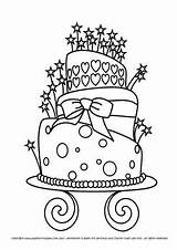 Birthday Stamps Coloring Happy Pages Cake Digi Digital Cakes Drawing Stamp Printable Cards Colouring Clip Wedding Craft Sheets Card Cupcake sketch template