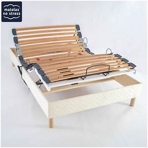 Lit 140x200 Avec Sommier : sommier relaxation electrique 120x190 ~ Teatrodelosmanantiales.com Idées de Décoration