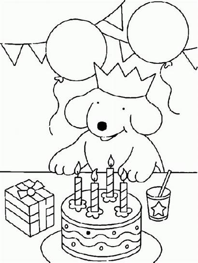 Birthday Drawing Party Drawings Coloring Pool Pages