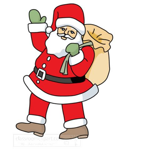 christmas animated clipart santa claus waving animation