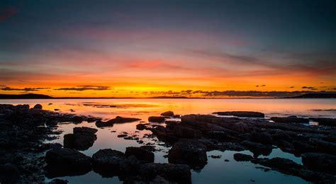 landscape sunset sea uk rocks wallpapers hd desktop