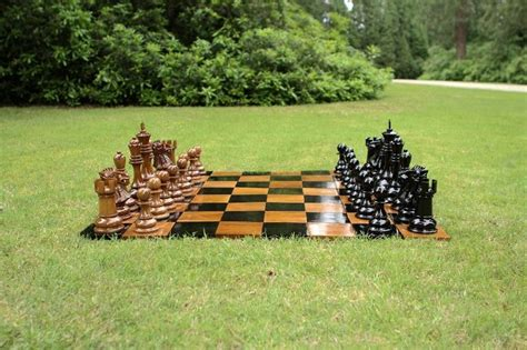 Garten Schach Set  Teak Holz Bis 30 Cm Übergamesde