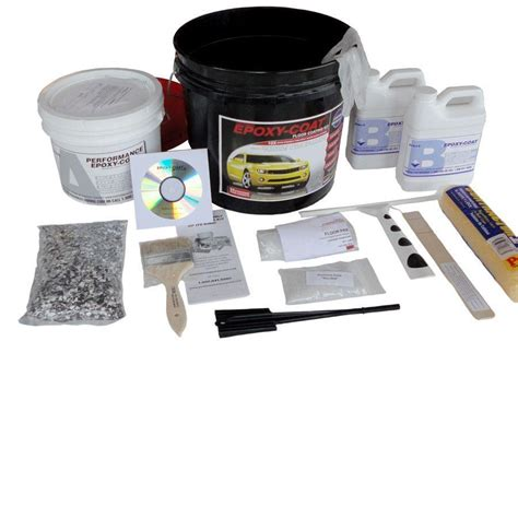 garage floor paint kit lowes shop epoxy coat 1 5 gallon size container interior high gloss garage floor epoxy kit medium gray