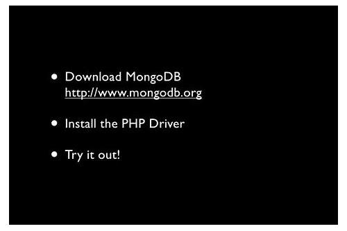 mongodb php baixar do driver install