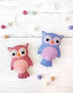 Felt Owl Plush Ornament Pattern