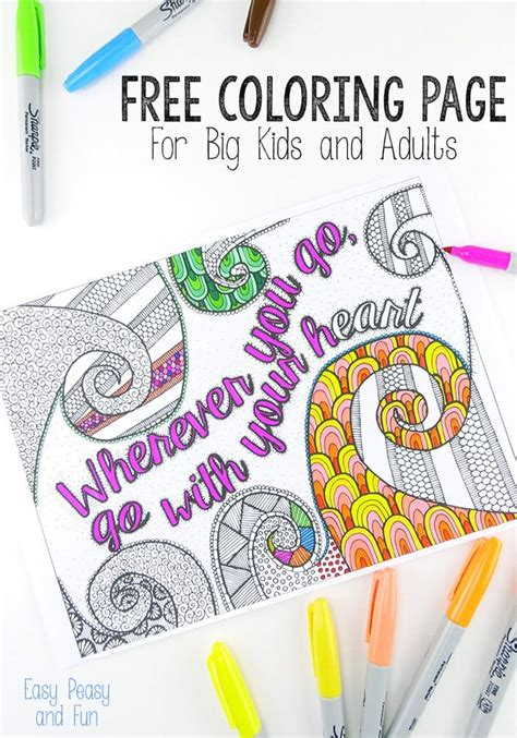 coloring page  adults easy peasy  fun