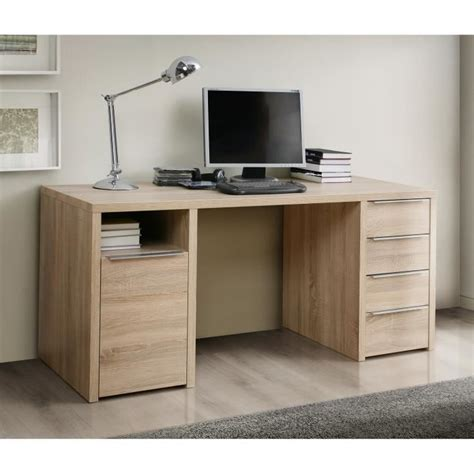 bureau en chene calpe bureau chêne sonoma l 160 cm achat vente