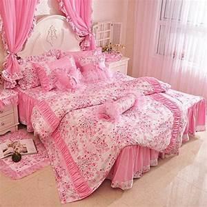 Kinder Mädchen Bett : fadfay home textil rosa kirschbl ten bett design vintage blumenmuster kinder bettw sche fee ~ Whattoseeinmadrid.com Haus und Dekorationen