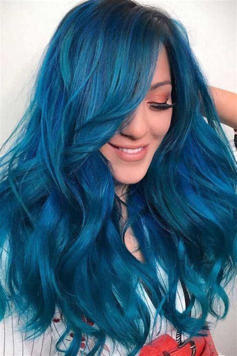 Best 25 Blue Hair Colors Ideas On Pinterest Blue Hair