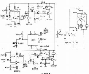 Robot Control Circuit Composed Of Transistor And Ne555