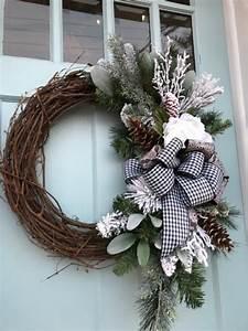 Plaid, Beauty, Beautifully, Elegant, All, Winter, Grapevine, Wreath