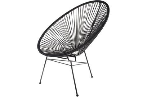 fauteuil la chaise longue noir acapulco fauteuil design pas cher
