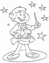 Magician Zauberer Magique Circo Ausmalbild Magier Ce1 Magicien Zirkus Magia Colorir Mailman Magos Dia Mago Reglas Bestcoloringpages Top20 Lernwerkstatt Danieguto sketch template
