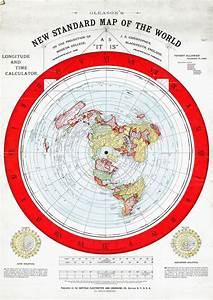 "Flat Earth Map 1892 Alexander Gleason 16""x23"" New Standard"