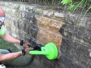 Stone Wall Cleaning - Louisville, KY - YouTube