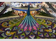 39Foot Floral Peacock Created for the Medellin Flower