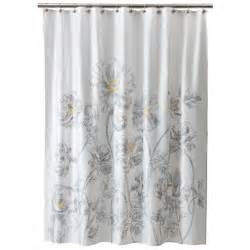 Yellow Gray Curtains Target by Threshold Floral Shower Curtain Yellow