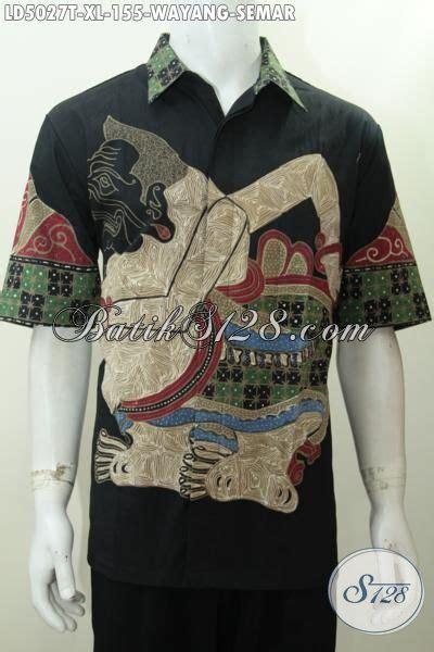 Kalung Motif Semar hem batik wayang buatan motif semar produk baju