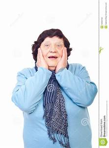 Happy Surprised Elderly Woman Royalty Free Stock Images ...