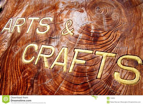 Craft Images Arts And Crafts Inscription Stock Image Image 74609