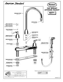 american kitchen faucet parts american standard indoor furnishings 4271 user 39 s guide