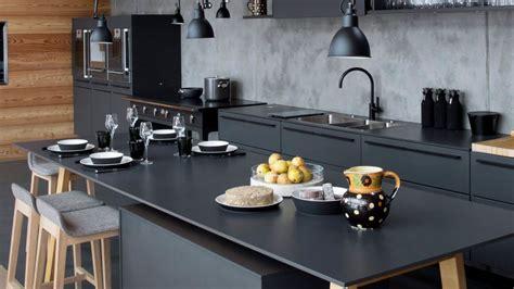 deco cuisine gris et noir d 233 co cuisine bois et noir
