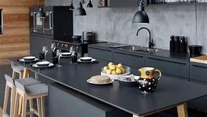 Deco cuisine noir et bois for Idee deco cuisine avec cuisine noir et bois