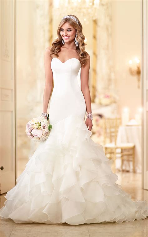 Organza And Satin Fit And Flare Bridal Gown Stella York