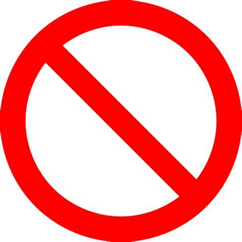 No Symbol Prohibition Sign - Free vector graphic on Pixabay
