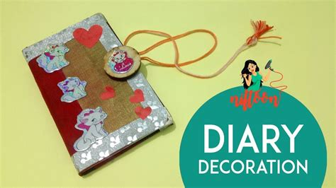 Decoration Ideas For Diary diary cover decoration ideas personal diary decoration