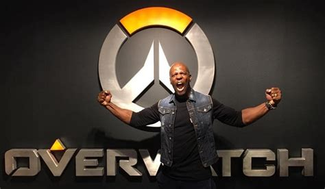 the rock endorses terry crews for the voice of overwatch s doomfist